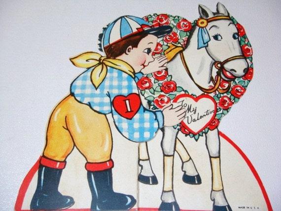 Valentine Card - Jockey and Race Horse