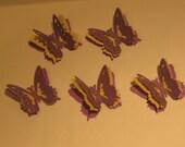 5 glittered layered butterflies