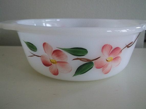 Vintage Milk Glass Fire King Bowl
