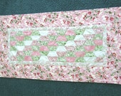 Quilted table runner - Spring - Peony Tales fabric