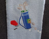 Golf embroidered  hand towel