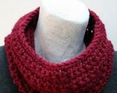 Wool Cowl Neckwarmer- Cranberry Souffle