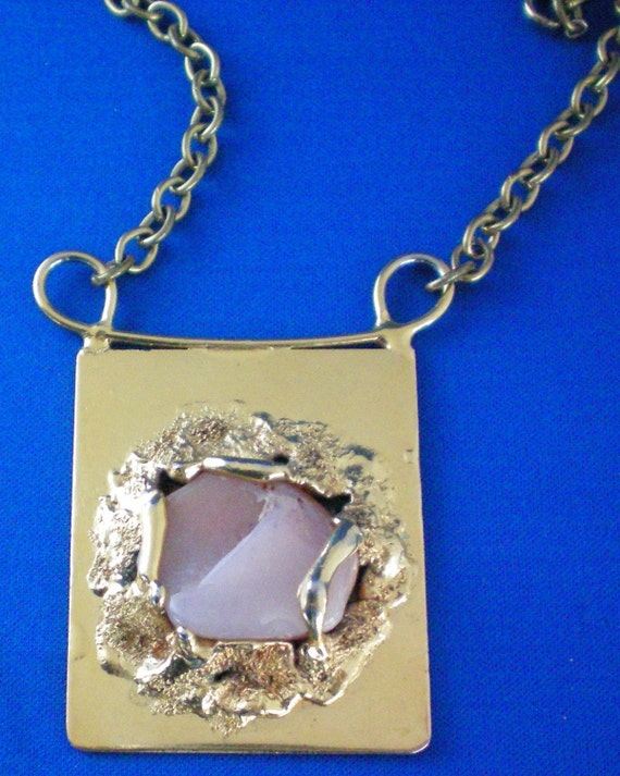 Modern Huge Pendant Necklace Singed Wiggers Handmade Denmark   MARKED DOWN