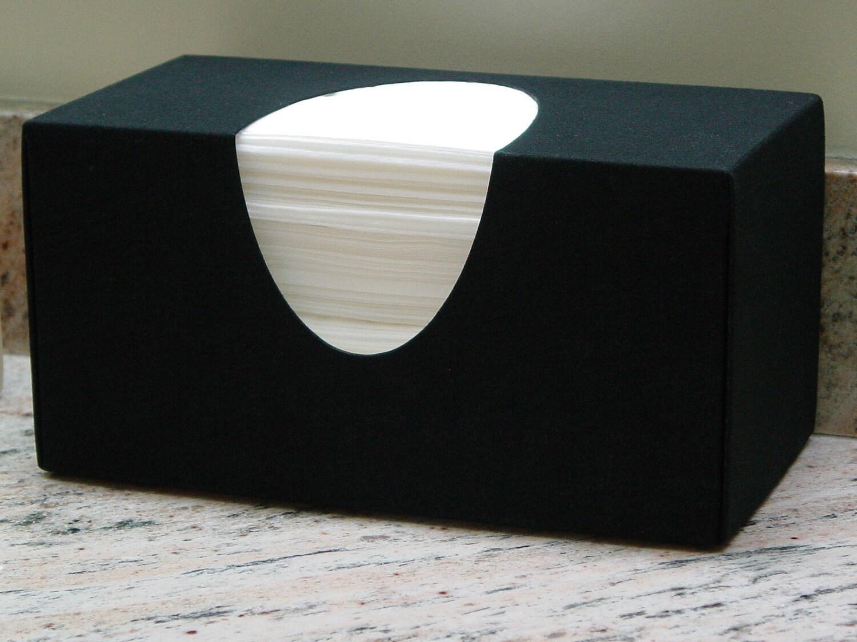 Elegant Black Tissue Box Cover