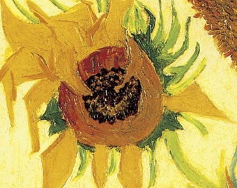 Wooden jigsaw puzzle. SUNFLOWERS. Van Gogh. Impressionist puzzle. Impressionism. Wood, handcut, handcrafted, collectible. Bella Puzzles.