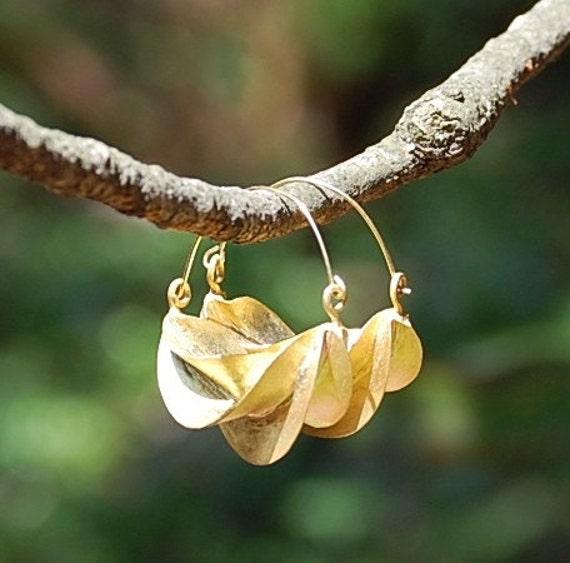 Fulani Earrings: New Model Medium Fulani Earrings Bronze