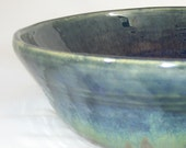 Large Bowl- Dark Blue and Rainbow