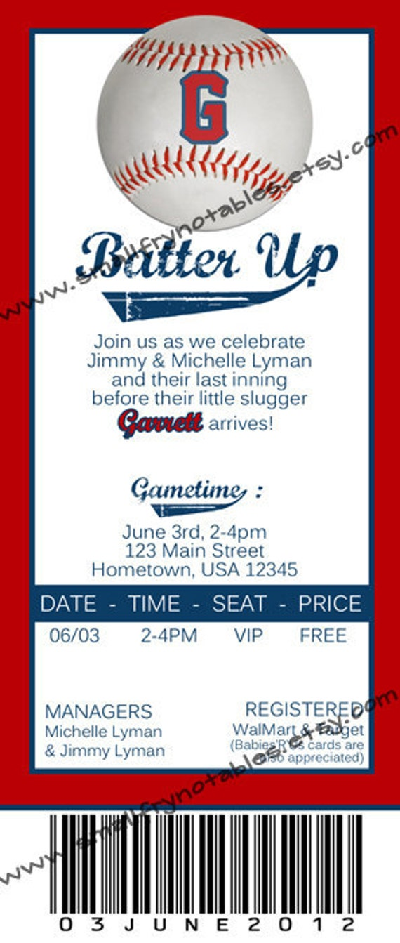 Baseball Ticket Invitation Template Free | ctsfashion.com
