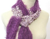 Sale Plum Dream Hand Knit Scarf