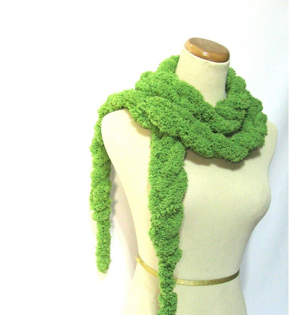 Lime Green Chain Scarf