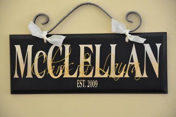 Custom family name sign home decor gift wedding christmas