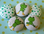 Froggy  fabric buttons.