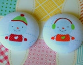 Snow Men buttons.