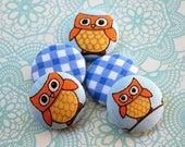 Owl Family buttons.