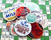 Vintage Milk Tops. Set of 3.