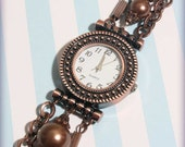 Copper Beaded Multi-Strand Watch