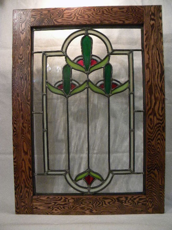 Cattail Stained Glass Window