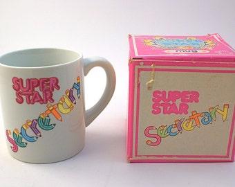 Vintage 1986 Secretary Mug APPLAUSE