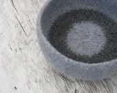big grey felted wool bowl