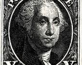 George Washington,  US postage stamp, Artwork, Etching