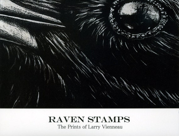 Book: RAVEN STAMPS- The Prints of Larry Vienneau, Buy the book and get one FREE 5 x 7 inch Artist Proof print