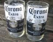 Two Upcycled 24oz Corona Extra Beer Bottle Tumblers