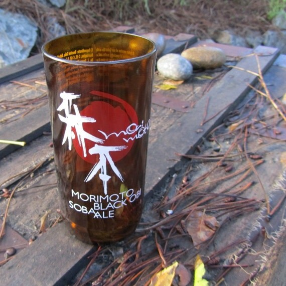 Rogue Morimoto Ale Tumbler // Recycled Glass Bottle