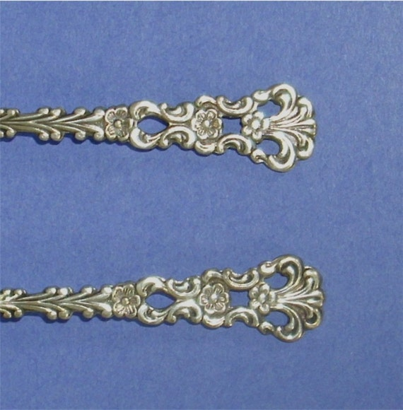 2 Demitasse Silver EPNS Spoons made in Sweden