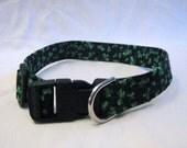 Shamrocks dog collar
