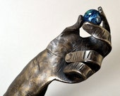 "Steel Hand Hammered Sculpture - ""In the Beginning"""