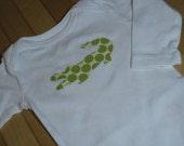 Green Aligator Long-Sleeve Bodysuit