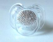clear swarovski crystal rhinestone covered binky pacifier