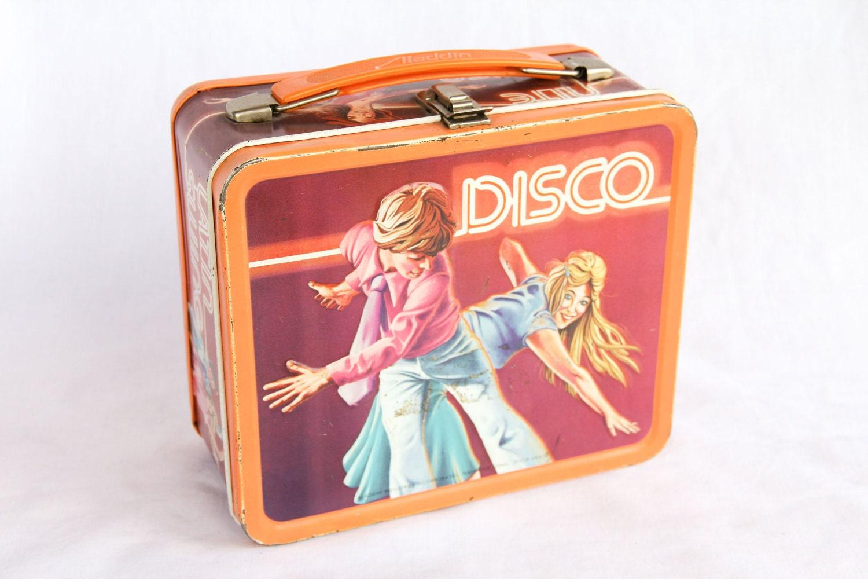 1979 disco lunch box by lynneamarievintage on etsy