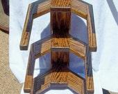 Cowboy Hat Rack Wall Mount 4 Western Hats Solid OAK Wood     Quality Hand Made Craftsmanship