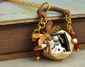TIME TRAVELER'S SUITCASE, vintage watch movement necklace