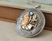 JOURNEY TILL End Of TIME steampunk vintage watch movement necklace in antique silver