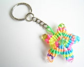 Reserved for soulinchains--Multicolored Macrame Star Keychain--Knotted