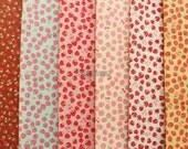 Small pieces of fabrics - Mini mini strawberry  by Atsuko Matsuyama