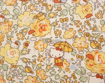 Liberty tana lawn - Felicite Hello Kitty printed in Japan - Yellow mix
