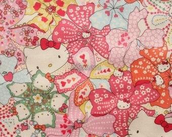 Liberty tana lawn - Mauvey Hello Kitty printed in Japan - Light pink mix
