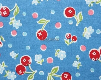 Flower in cherry  - Blue by Atsuko Matsuyama - Printed in Japan