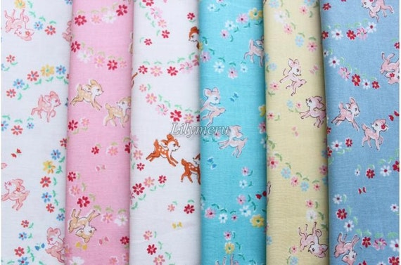 Small pieces of fabrics - Old new fabric collection - bambi by Lecien