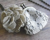 leather purse necklace - lace and hana