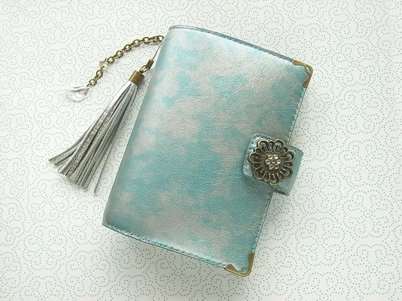 reserved - leather binder - celestial - hand stitched