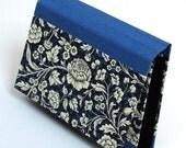 Accordion Folder - Memo Pocket blue Renaissance Flower