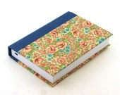 shabby chic Day Planner 2016, pink flowery meadow and blue