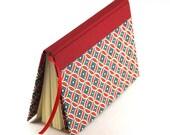 Notebook retro Lotus red teal