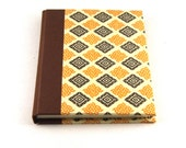 Address Book yellow brown check - nauli
