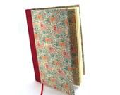 Diary / Notebook Summerflower red teal