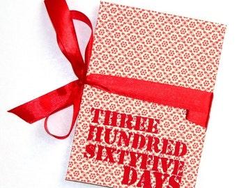First Anniversary - Threehundredsixtyfive Days - Valentine Accordion Photo Book